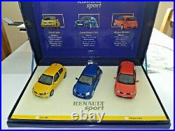 1/43 Coffret Renault Sport Clio 2 RS Megane 2 RS Clio V6 UH ref 7711227756