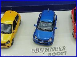 1/43 Coffret Renault Sport Megane RS Clio RS Clio V6 2004 UH Universal Hobbies