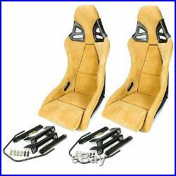 2 Charbon Sièges Sport dans 997-GT3-LOOK Alcantara Beige + Kit de Montage