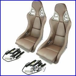 2 Charbon Sièges Sport dans 997-GT3-LOOK Cuir Braun + Kit de Montage