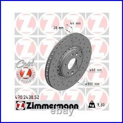 2 Disque de frein ZIMMERMANN 470.2438.52 DISQUE DE FREIN SPORT COAT Z
