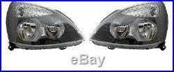 2 Feux Phare Optique Avant Black Renault Clio 2 II Renault Sport 06/2001-05/2005