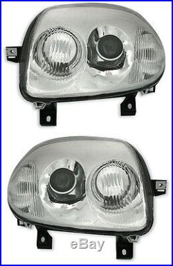2 Feux Phare Optique Look V6 Renault Clio 2 II Sport Neuf
