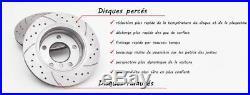 4 Sport Disques De Frein Avant Gt1529 + Arriere Gt1751 Renault Clio 3 2005-2012