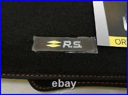 4 Tapis De Sol Textile Renault Rs Line Sport Clio V 2019-2021 Origine
