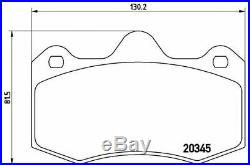 BREMBO Essieu Avant Frein Set Plaquettes pour Renault Clio II 3.0 V6 Sport 2002