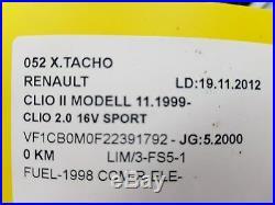 Bloc Compteurs Vitesse Renault Clio 2 Sport 7700434531 Sagem