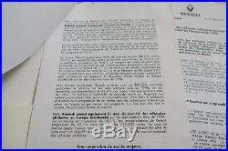 Brochure Prospekt Presse Kit Dossier 1998 RENAULT CLIO SPORT V6 INITIALE TWINGO