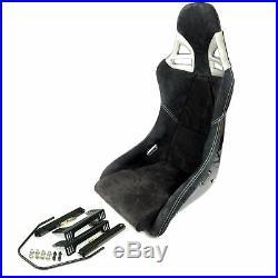 Charbon Sport Siège dans 997-GT3-LOOK Alcantara Noir, Couture Blanche +