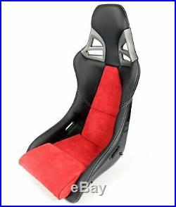 Charbon Sport Siège dans 997-GT3-LOOK Cuir Alcantara Noir Rouge Charbon