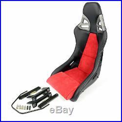 Charbon Sport Siège dans 997-GT3-LOOK Cuir Alcantara Noir Rouge+Kit de Montage