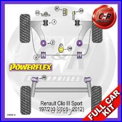 Clio 3 Sport 05-05 / 09 RR Lwr Moteur Bush, Fr Bras Carossage / Roulette
