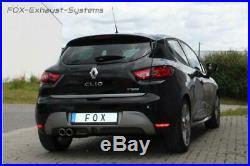 Échappement Sport en Acier Inoxydable Renault Clio 4 Gt-Ligne 2x76mm Rond Roulé