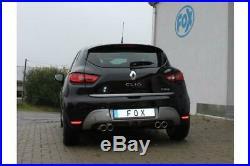 Fox Duplex Échappement Sport Renault Clio IV Gt 1.2 Tce 120 à droite / Gauche