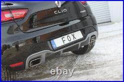 Fox Duplex Échappement Sport Silencieux Renault Clio IV Rs 1,6l 147kW