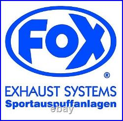 Fox Échappement Sport Inox Silencieux Renault Clio III Sport 2.0l