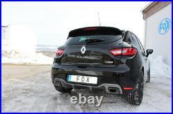 Fox Échappement Sport Pour Renault Clio IV Rs Silencieux Transversal Sortie Ré