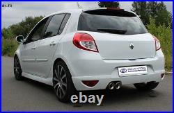 Fox Échappement Sport Renault Clio 3 Gt De Année Fab. 09 1.6l 2x90mm