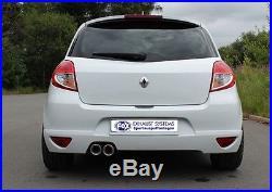 Fox Échappement Sport Renault Clio 3 Gt de Année Fab. 09 1.6l L 2x90mm