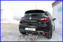Fox Échappement Sport Renault Clio 4 Rs 1.6l L pour Serienheckschã ¼ BBQ