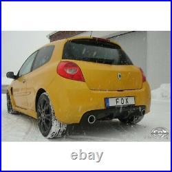 Fox le Sport Échappement Duplex 63,5mm Pour Renault Clio 3 B 2.0 16V 148kW Sport