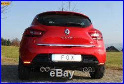 Fox le Sport Échappement Duplex Renault Clio 4 X98 0.9l 1.2l 1.5l L D Ab Année