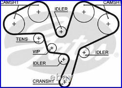 GATES Distribution Courroie pour Renault Clio II 3.0 V6 Sport (CB1A) 2000-2002