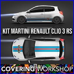 Kit déco Martini Clio 3 RS Renault Sport