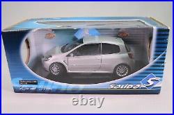 LE404 SOLIDO 8195 Voiture 1/18 118 Renault Clio sport 2006 silver
