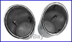 Original Qualité 92-98mm Beaucoup Véhicules 2x Premium Inox Embout Pot