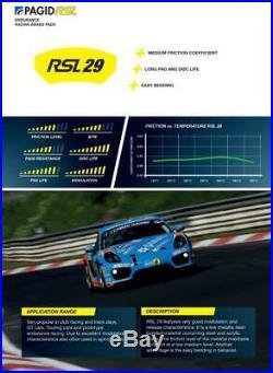 Pagid RSL29 Plaquette Frein Arrière pour Renault Mégane II Sport & Clio Cup