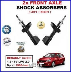 Pour Renault Clio II 1.2 16V LPG 2.0 Sport 1998- Essieu avant Amortisseurs Set