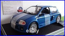 RENAULT SPORT CLIO V6 TROPHY street bleue 1/18 UNIVERSAL HOBBIES 7711218614 voit