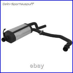 Remus Duplex Échappement Sport + Clapets Renault Clio 2 Type B Chaque 2x84mm Sr