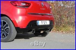 Renault Clio 4 Fox le Sport Échappement Duplex Ovale Inclinées Chaque 115x85 MM