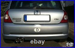 Renault Clio II B Silencieux Sport 2x80 Type 13 De Fox