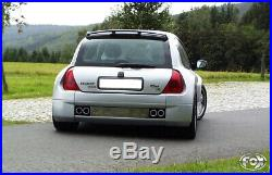 Renault Clio II V6 Duplex Silencieux Sport Transversal 2x76 Type 12 à droite/à